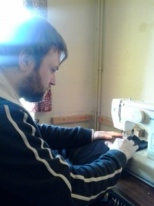 Sam sewing