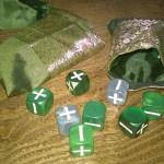 dice bags inside