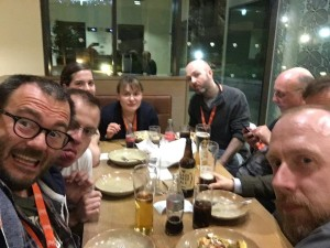 Dinner with writers