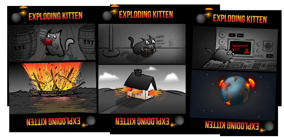 Exploding Kittens exploding