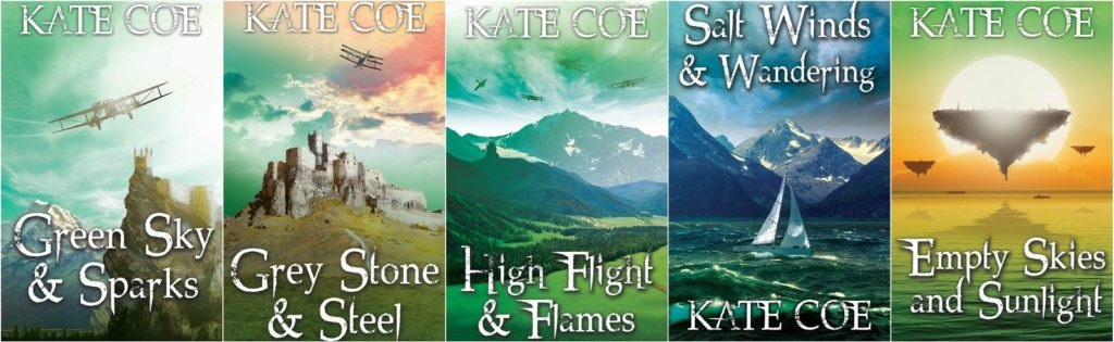 Green Sky novella covers