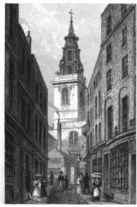 St Michael, demolished, from Portals of London blog
