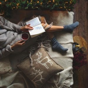 cosy christmas with a book