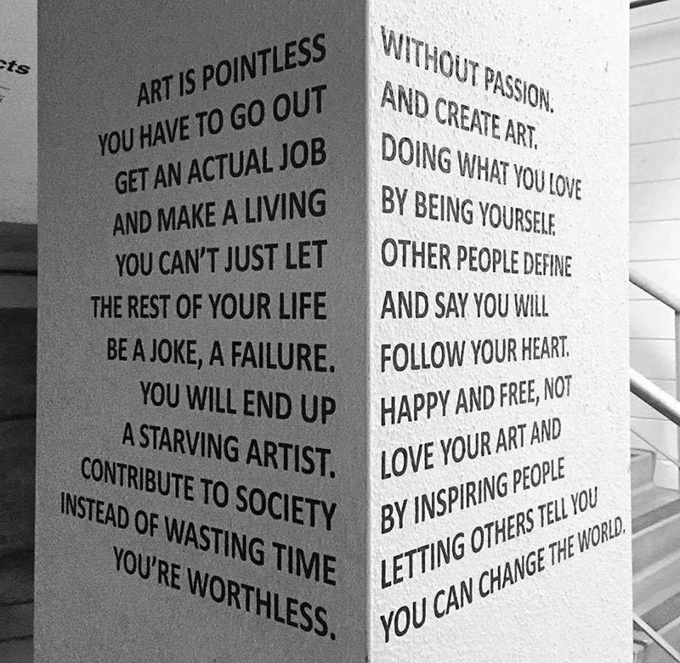 Art is pointless by Jasmine Kay Uy