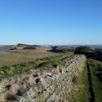 Looking down the wall from Milecastle 37