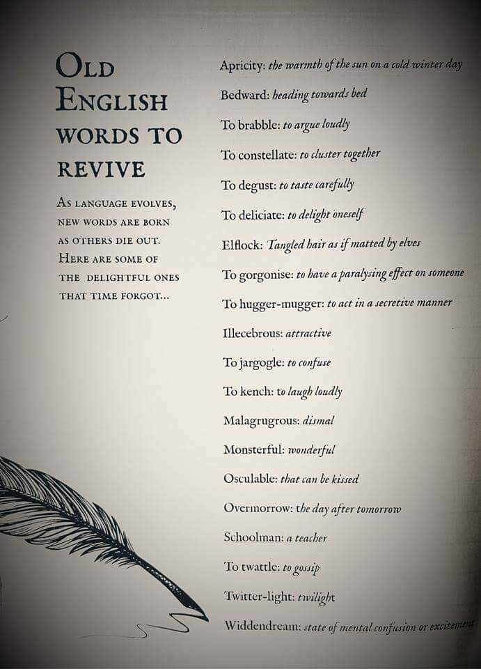 List of old english words to revive