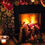Log fire