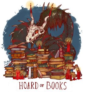 Book Hoard dragon by Iguana Mouth