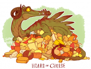 Cheese hoard dragon