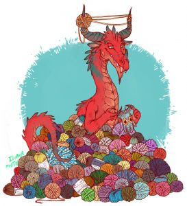 Wool hoard dragon