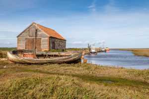 Image of Thornham boathouse via Andrews Walks