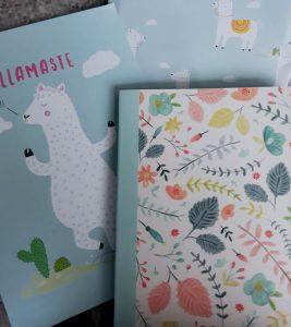 Llama presents - card & notebook