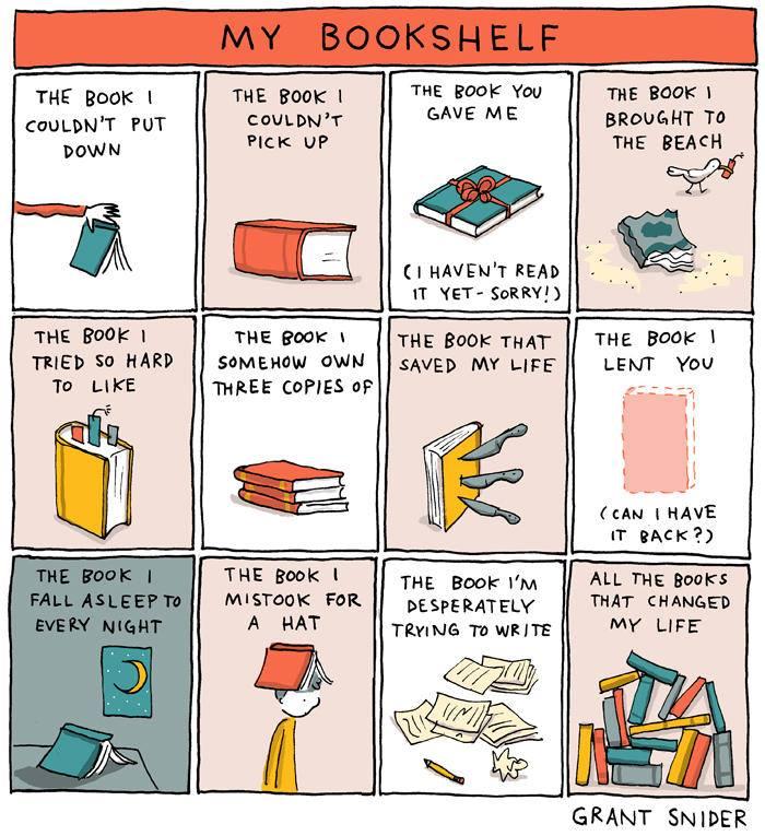 Grant Sneider: my bookshelf