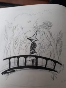 Witch on a bridge by PetiteCreme