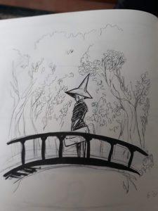 Witch on a bridge by PetiteCreme