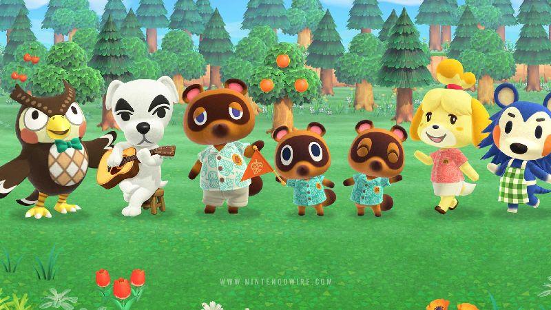 Animal Crossing characters wallpaper